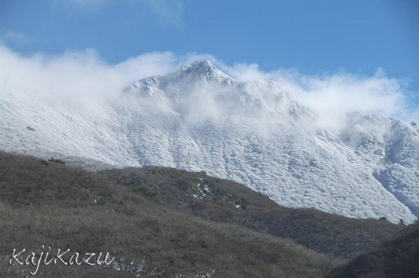 雪化粧の大船山