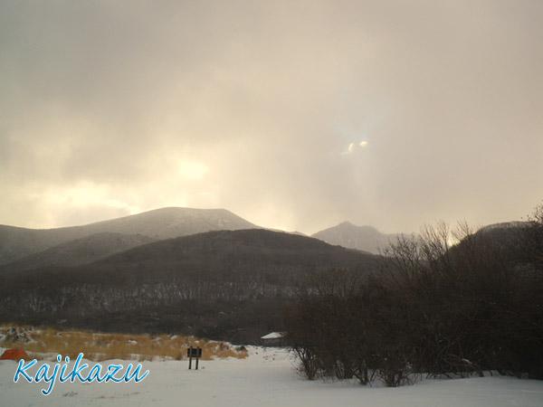暴風雪明けの朝・・