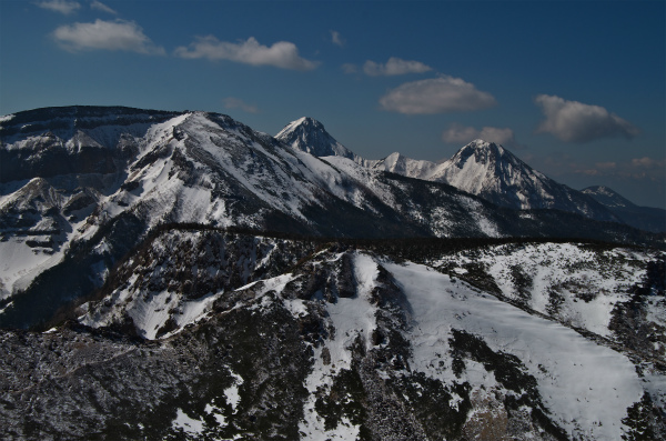 天狗岳から南八ヶ岳