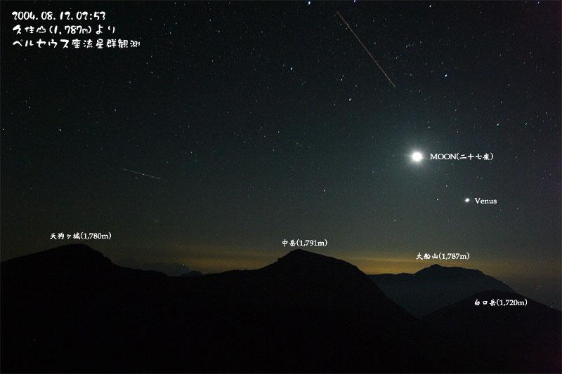 2004年のペルセウス座流星群