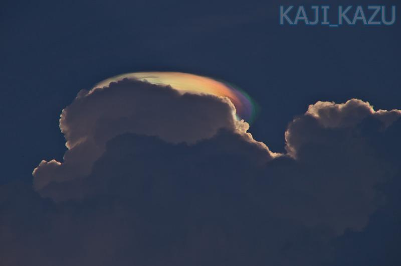 2013年8月16日 坊がつるにて撮影 発達しきれなかった積乱雲の上に綺麗な彩雲が観れました。